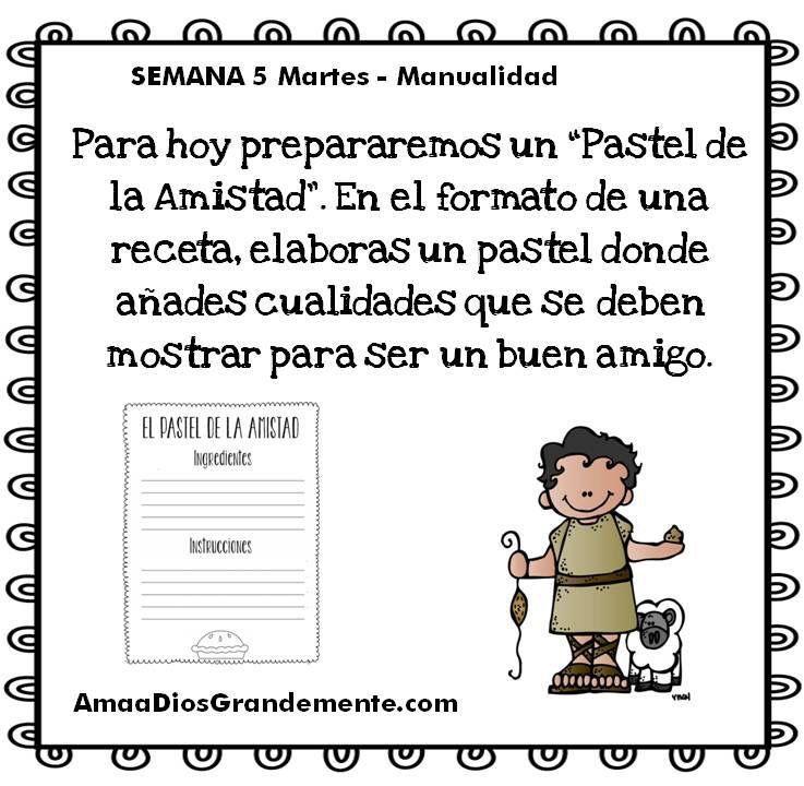 Semana 5 MARTES - Manualidad - David Niños \