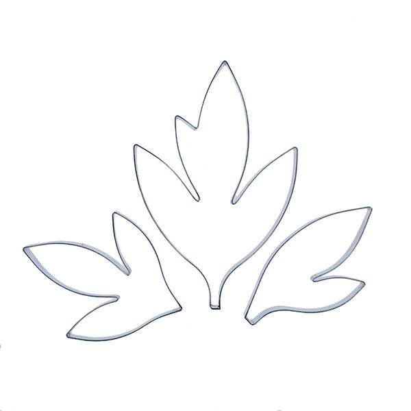 Peony Leaves Cutter Set of 3 by CelCakes | cookie cutters ...
