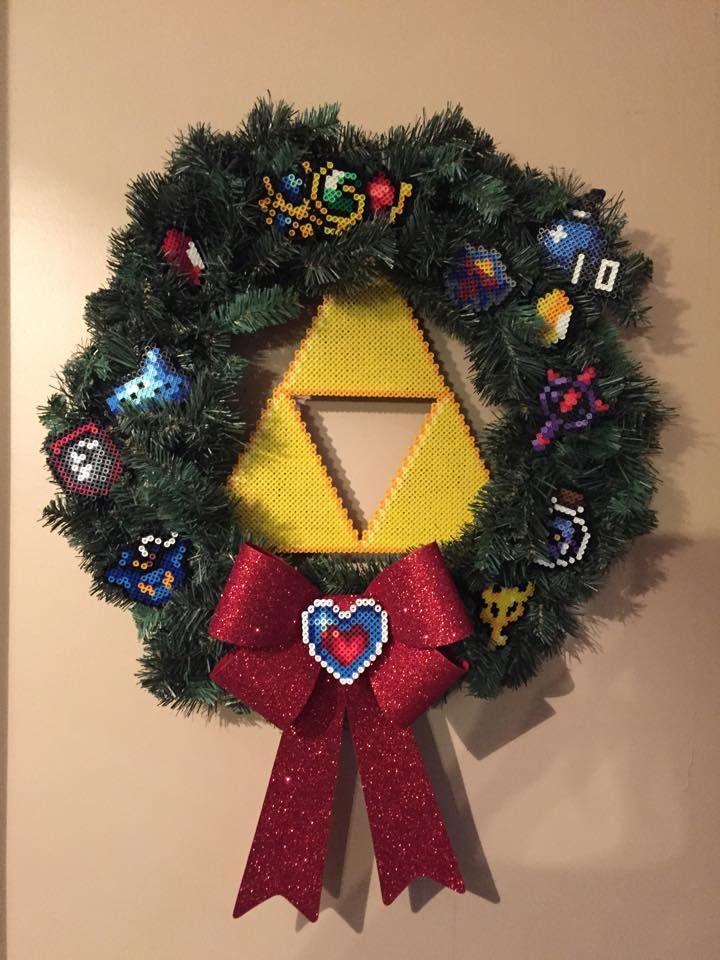 Legend of Zelda Perler Christmas Wreath by Amber--Lynn   Perler ...