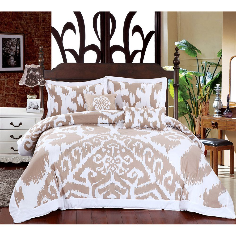 Swiss Comforts HCI Uzbeck 5Piece Uzbeck Comforter Set