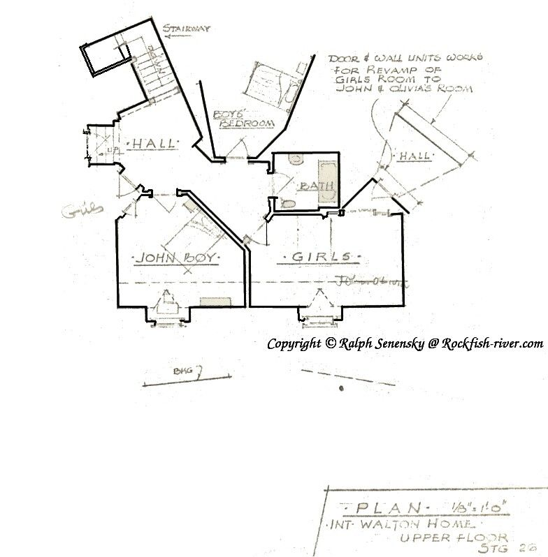 Waltons\' house floor plan - 2nd story | Goodnight John Boy ...