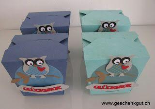 Glücksbox mit Glückskeksen Geburtstag Glücksbringer Geschenkgutschein Geldgeschenk