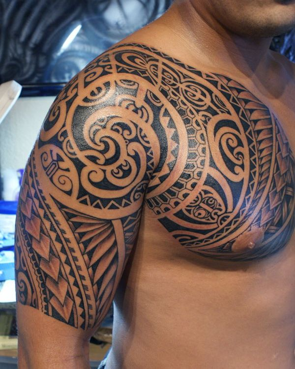 6e4c344fb790e Samoan Chest Tattoos for Men | Samoan Tattoo Designs for Men | Can I ...