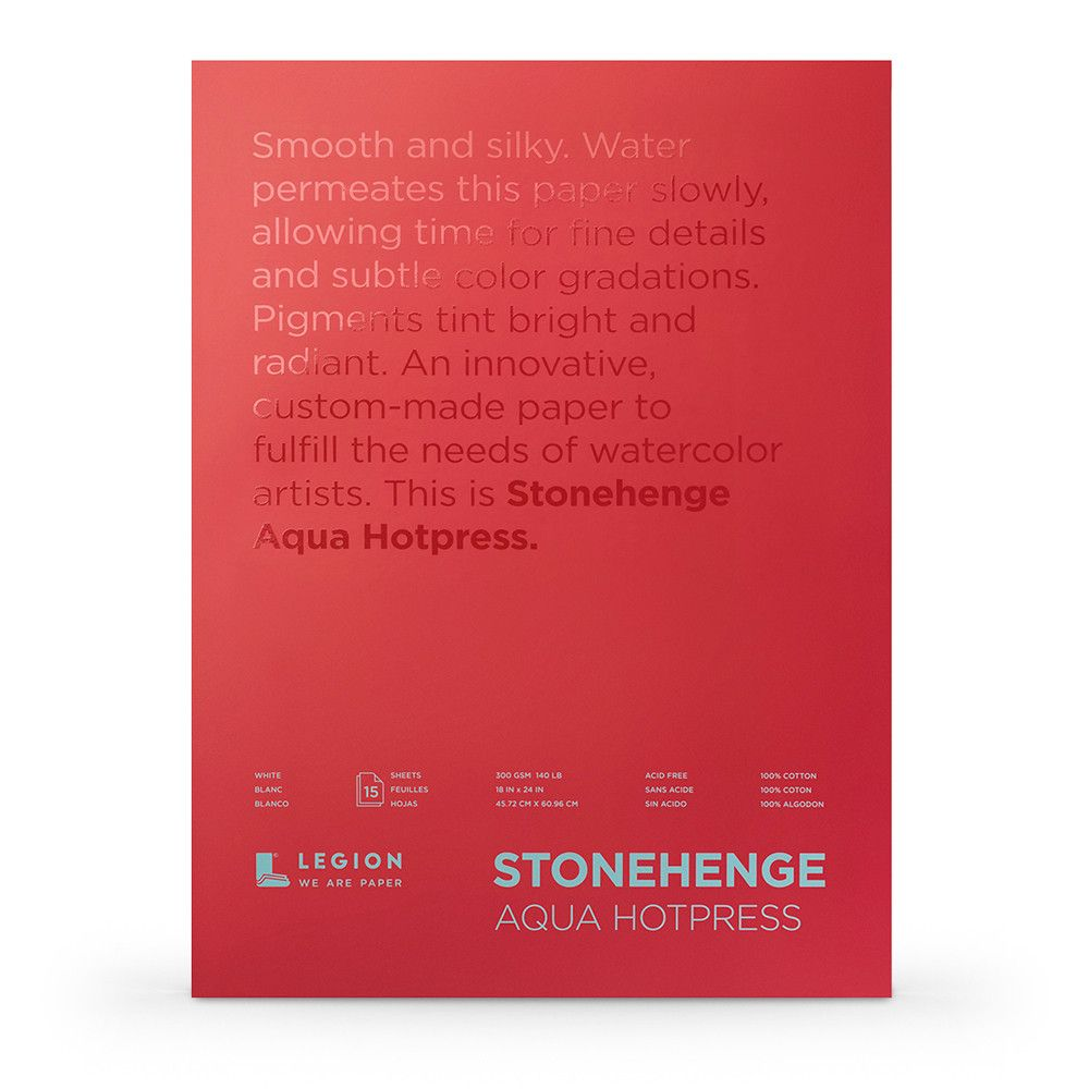 Stonehenge Aqua Watercolour Paper Block 140lb 300gsm