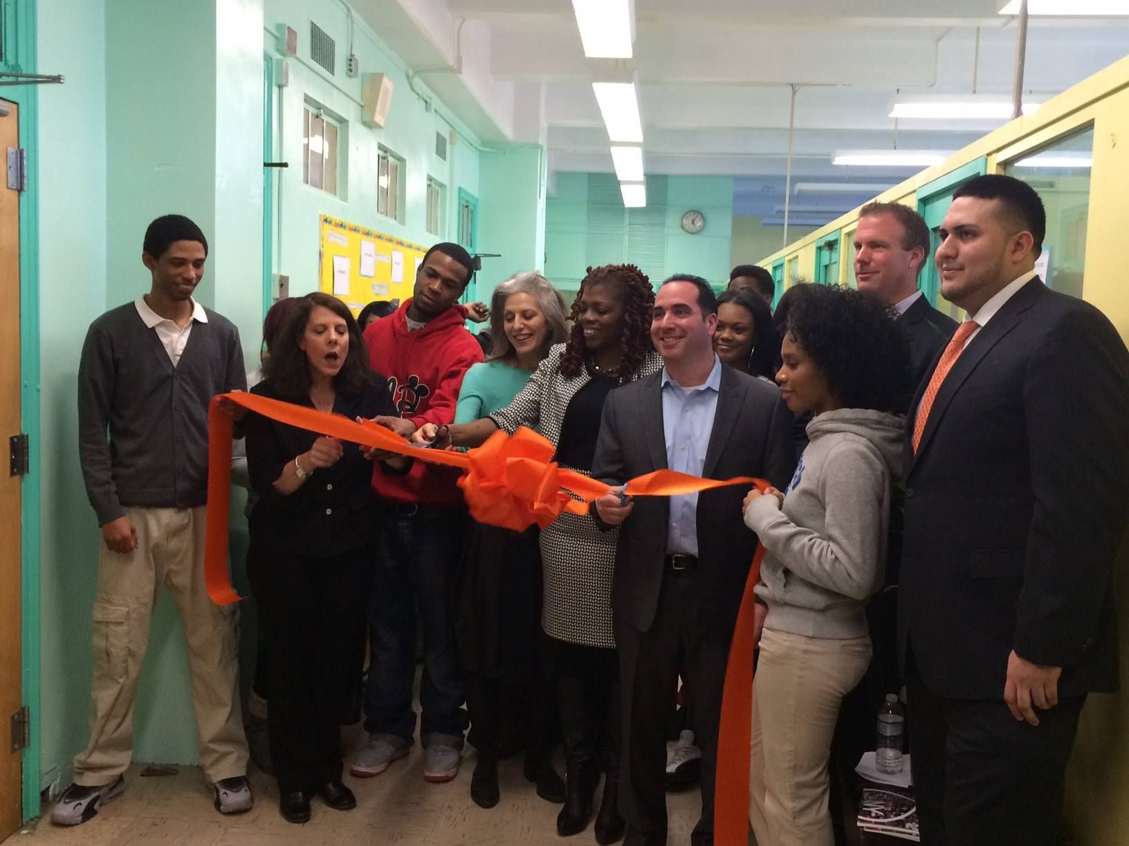 Today we celebrated our partnership with Publicolor and EcoMediaCBS with the unveiling of the newly painted August Martin High School in South Jamaica, Queens and a breakfast with the amazing students.