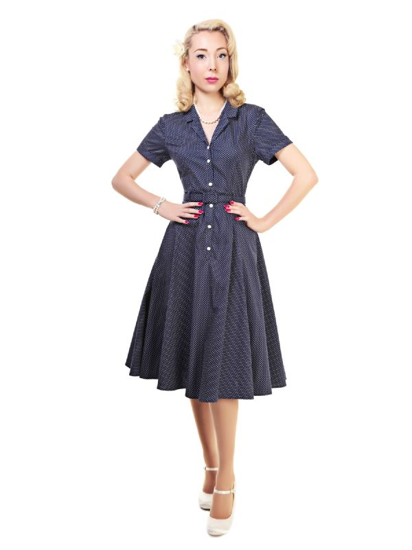 Caterina Polka Dot Shirt Swing Dress | My stuff | Pinterest