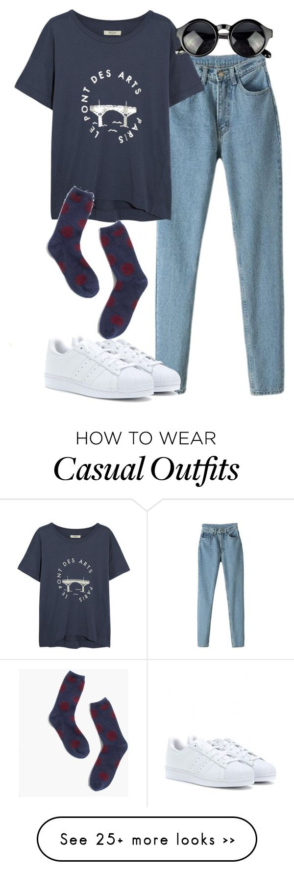 """""""casual"""" by monikaps on Polyvore featuring Madewell and adidas Originals"""