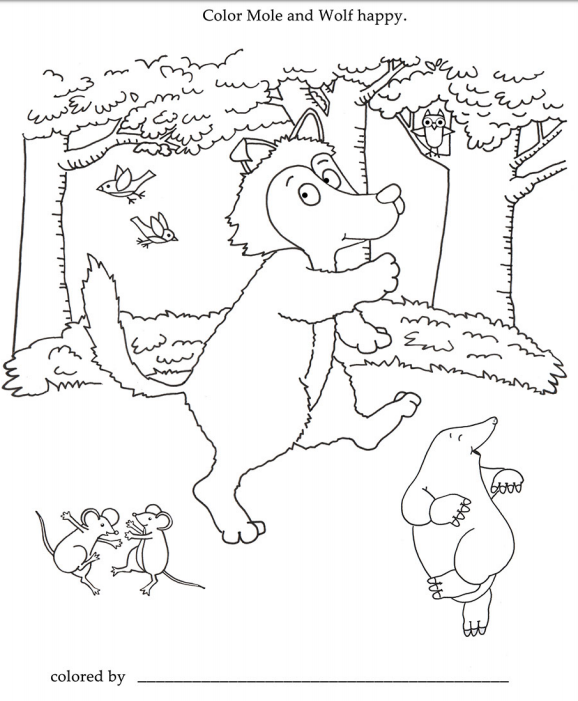 Free Educators Resource Activity Sheet For A Friend For Mole Coloring Page Free Coloring Sheets Activity Sheets Coloring Pages