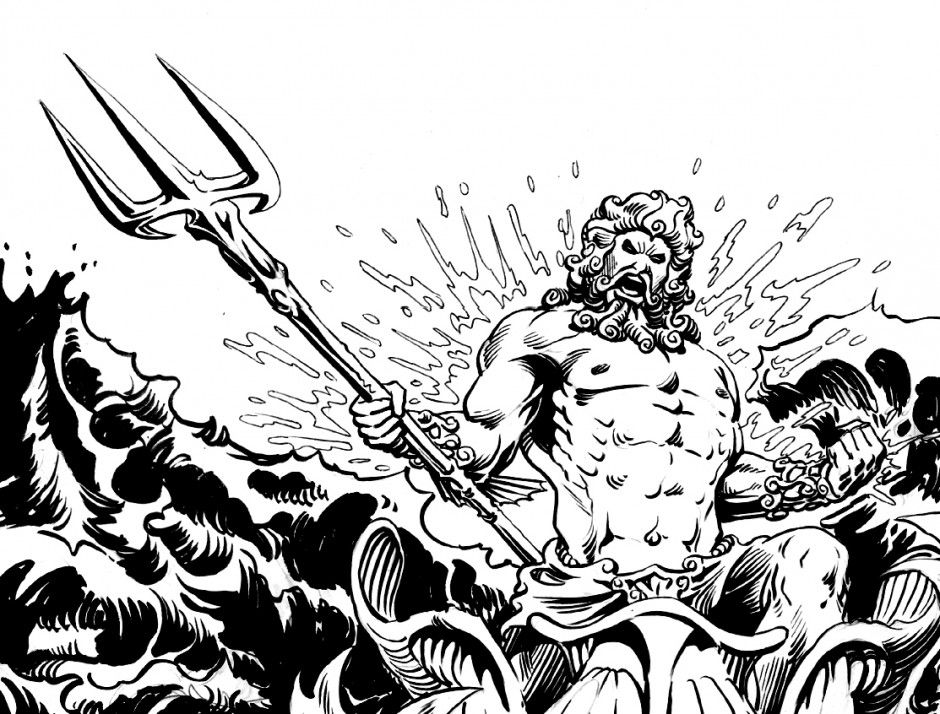 Poseidon Coloring Pages Coloring Book Area Best Source For 223790