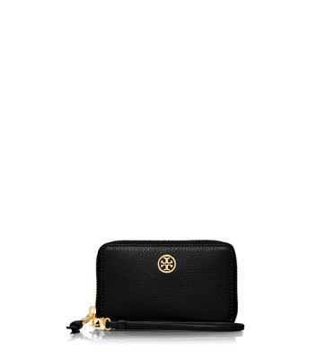 b1f5295ae2ce Tory Burch Robinson Pebbled Smartphone Wristlet for mom! in the color  Tigers Eye