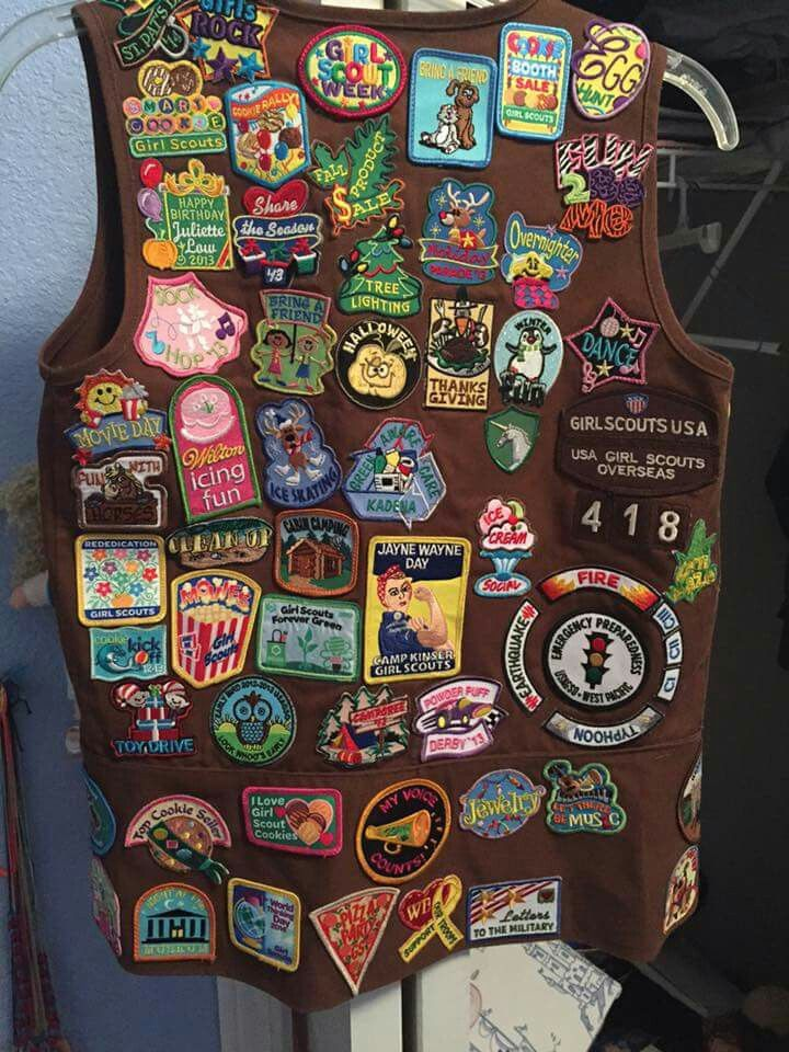 brownie vest fun patch placement back