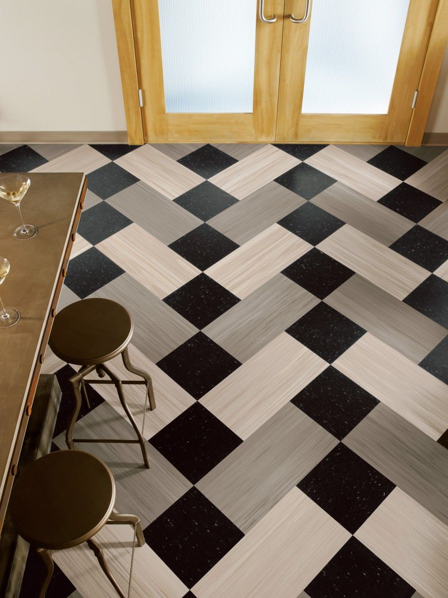 Ideas Checkered Flooring Ideas For Awesome Room Look Black And