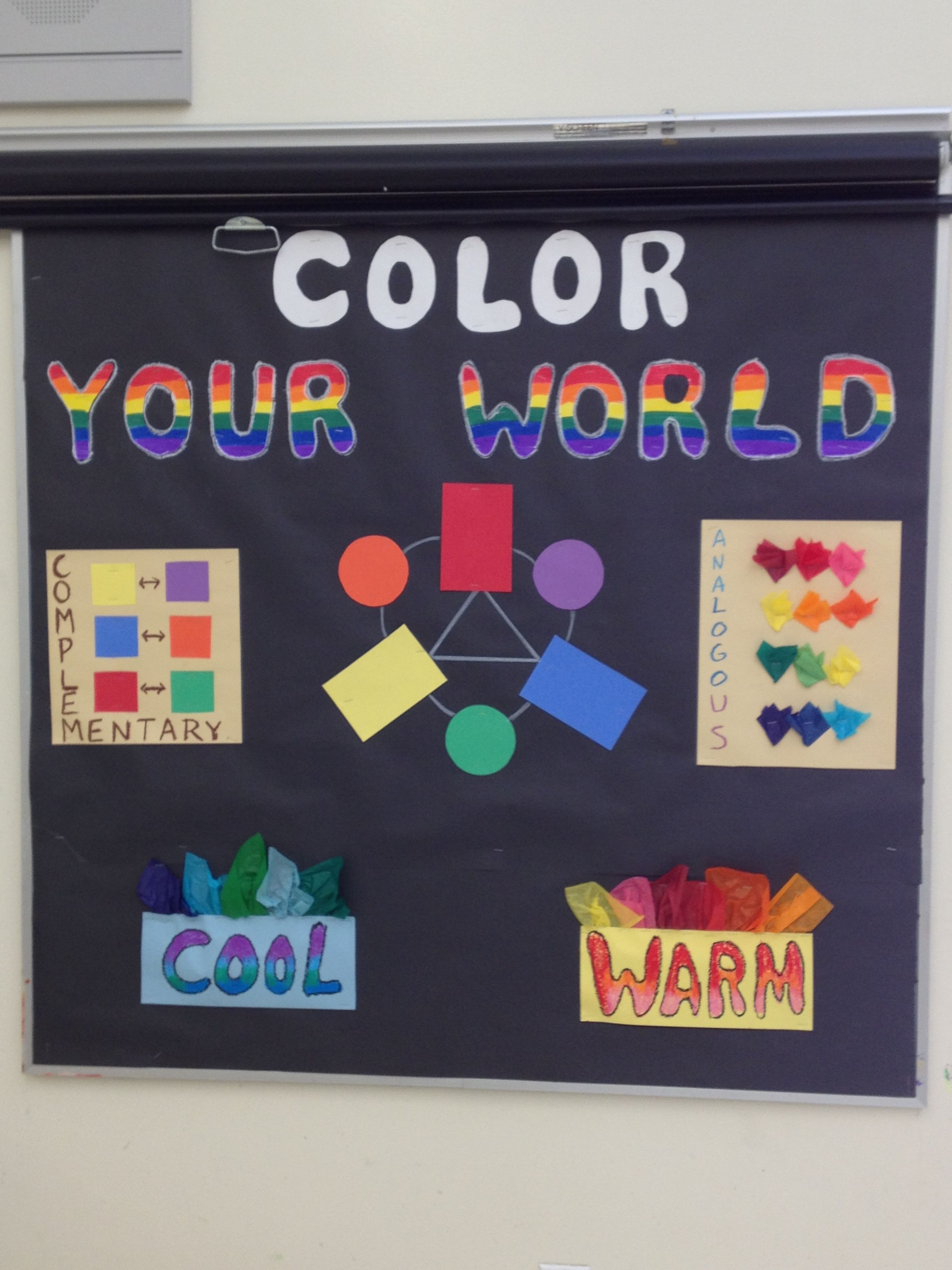New Color Wheel Bulletin Board For My Room