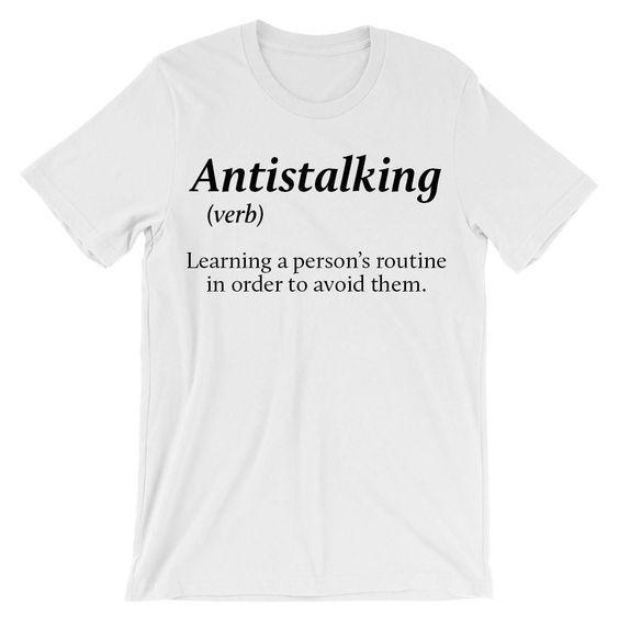 Antistalking verb T-Shirt ND21D For men women v neck tank top - 99teeshop
