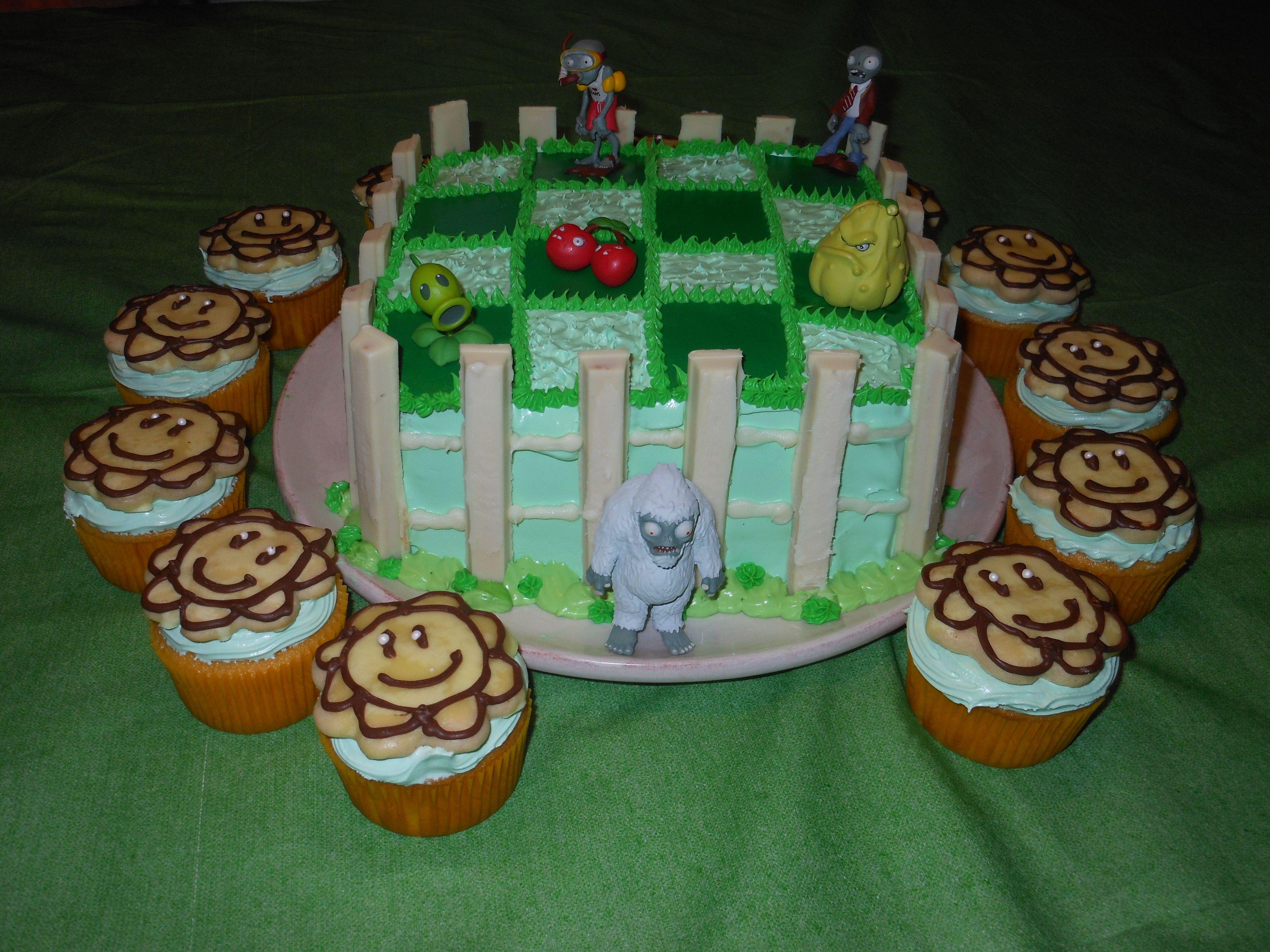 Plants Vs. Zombie Cake I made for my nephews 11th Birthday!