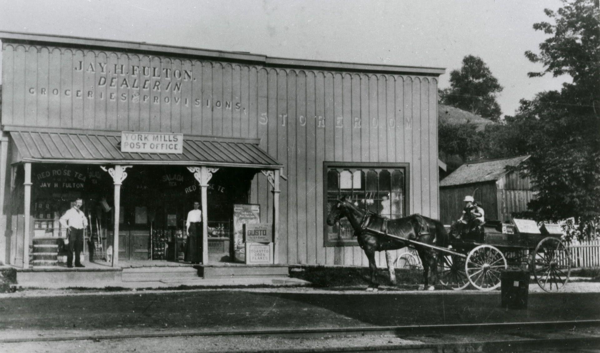 fulton u0026 39 s store and york mills post office  e  side yonge