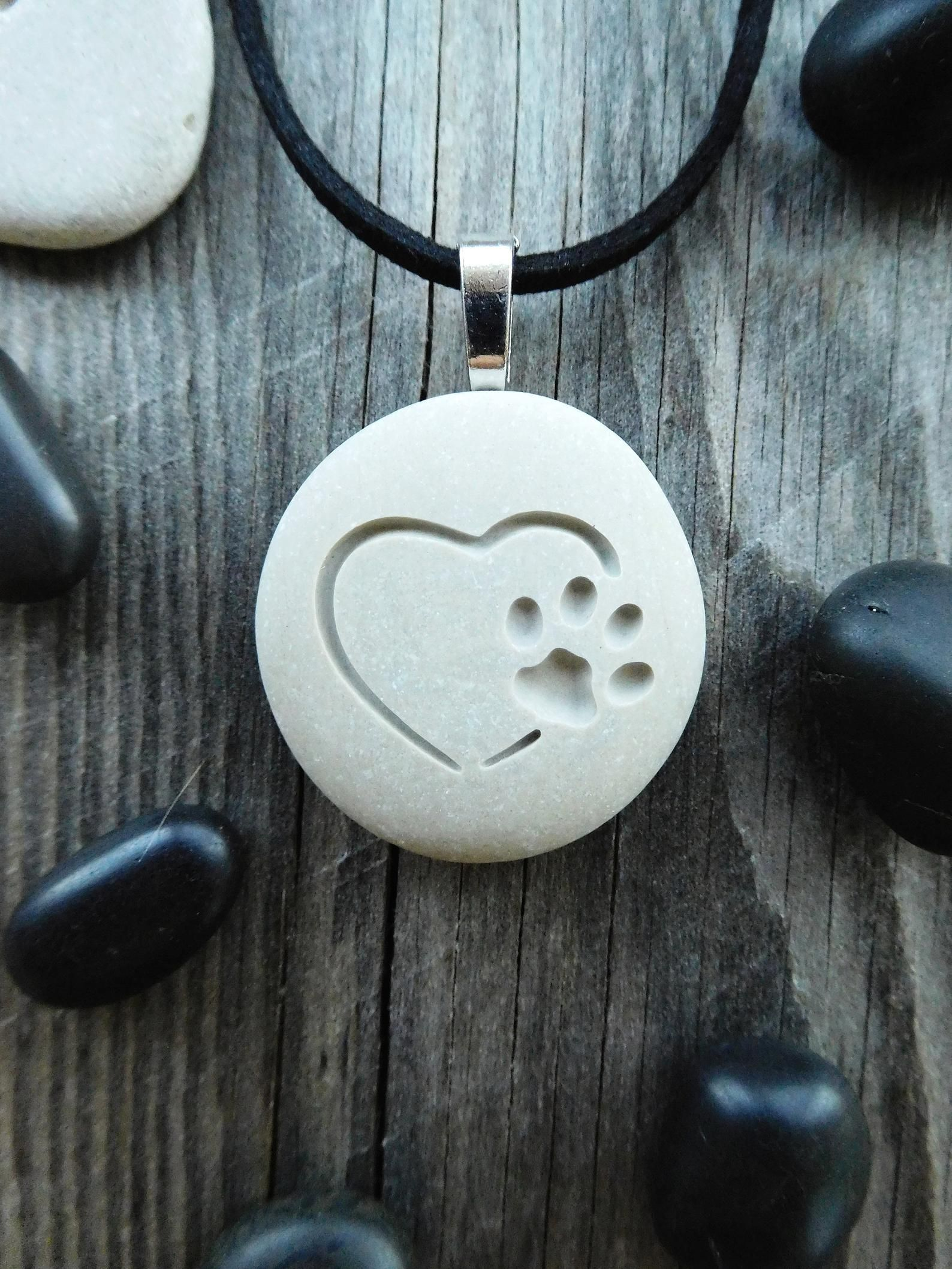 Photo of Paw Print Necklace, Pet Memorial Necklace, Paw Print Jewelry, Pet Initial Necklace, Dog Paw Necklace, Cat Paw Necklace, Pet Necklace