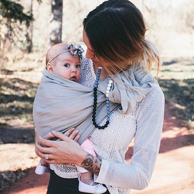 Ring Sling Baby Carrier Baby Sling The Little Ones Pinterest