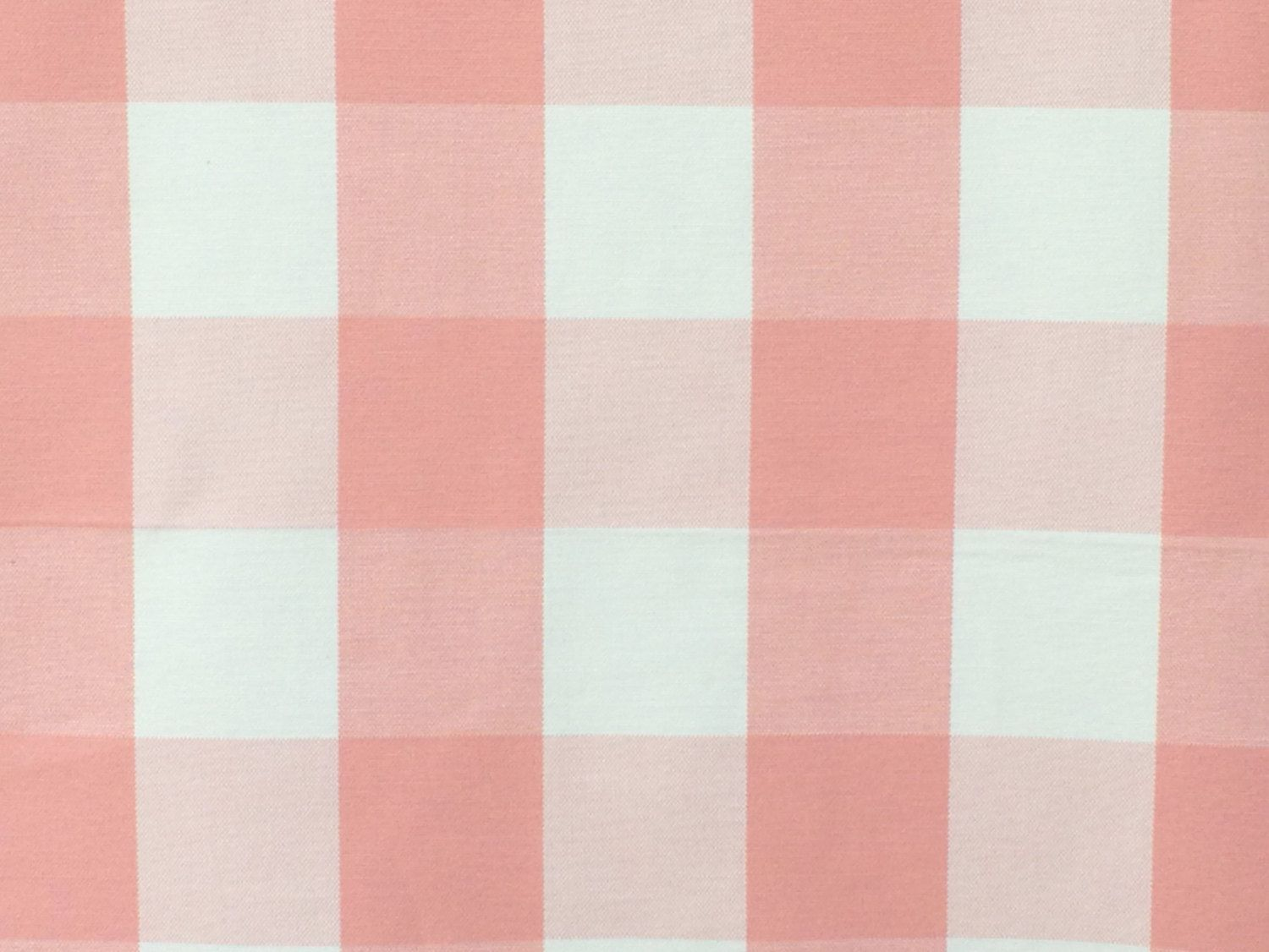 Peach And Ivory Gingham Checks Cotton Fabric By The Yard Upholstery Drapery Shower Curtain Wholesale FabricMart