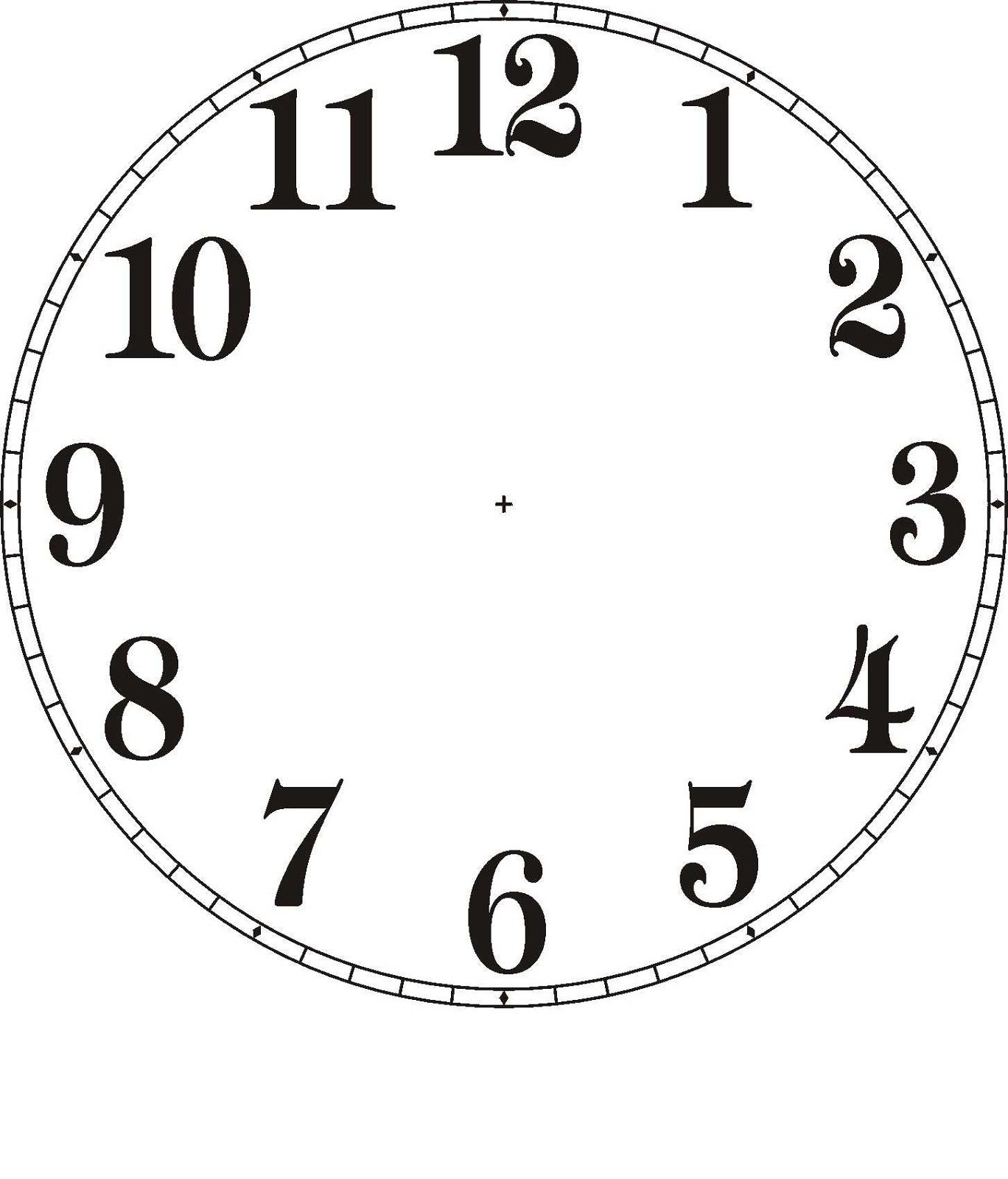 Free Clock Faces Printable Clock Face Printable Clock Template