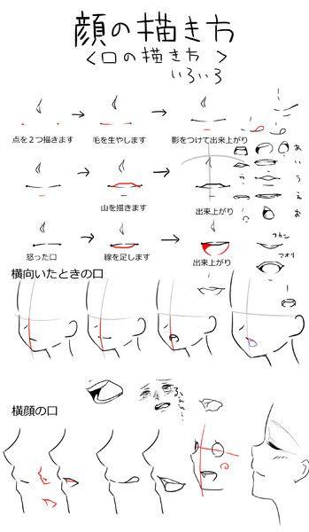 口の描き方いろいろ クロル さんのイラスト Drawing Tips