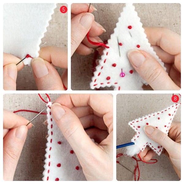 C mo hacer adornos navide os de fieltro navidad xmas - Ideas para hacer adornos navidenos ...