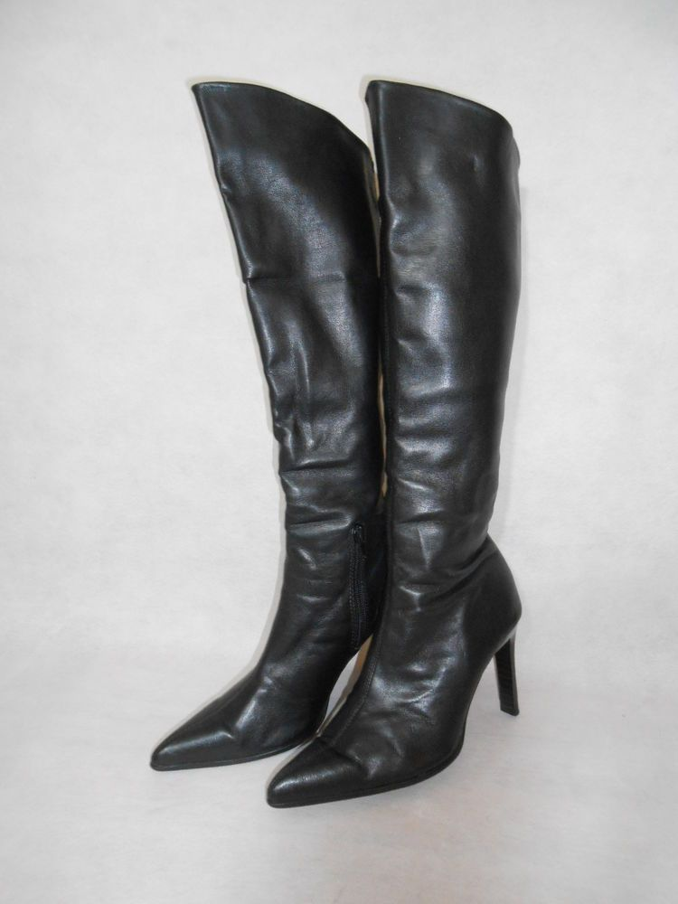 Women Black Knee High Boots Real Leather Soft Dorothy Perkins Size 3 | eBay