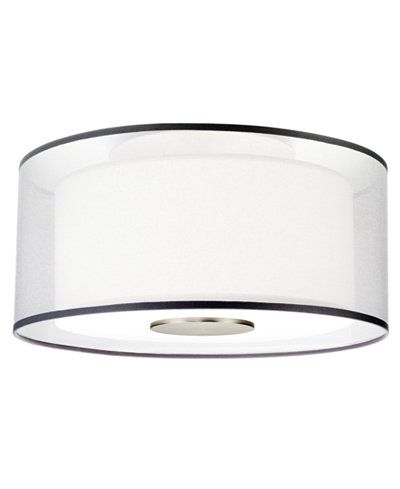 Robert Abbey Saturnia Stainless Steel Flush Mount