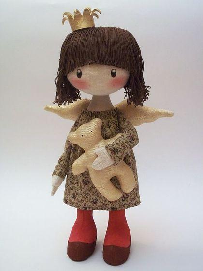 Человечки ручной работы. Ярмарка Мастеров - ручная работа текстильная кукла Лили - прЫнцесса..... Handmade.