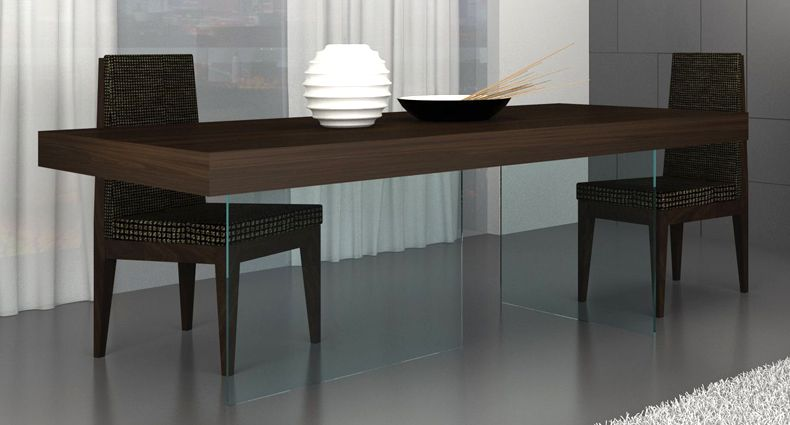 Aria Espresso Dark Wood And Glass Dining Table Dining Table Glass Dining Table Dark Wood