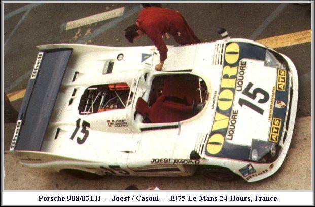 1975 Porsche 908/03  Porsche (2.996 cc.) (A)  Reinhold Jöst  Mario Casoni  Jürgen Barth