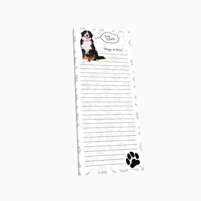 Bernese Mountain Dog Dog Magnetic Refrigerator List Note Pad Paper available at DogLoverStore.com