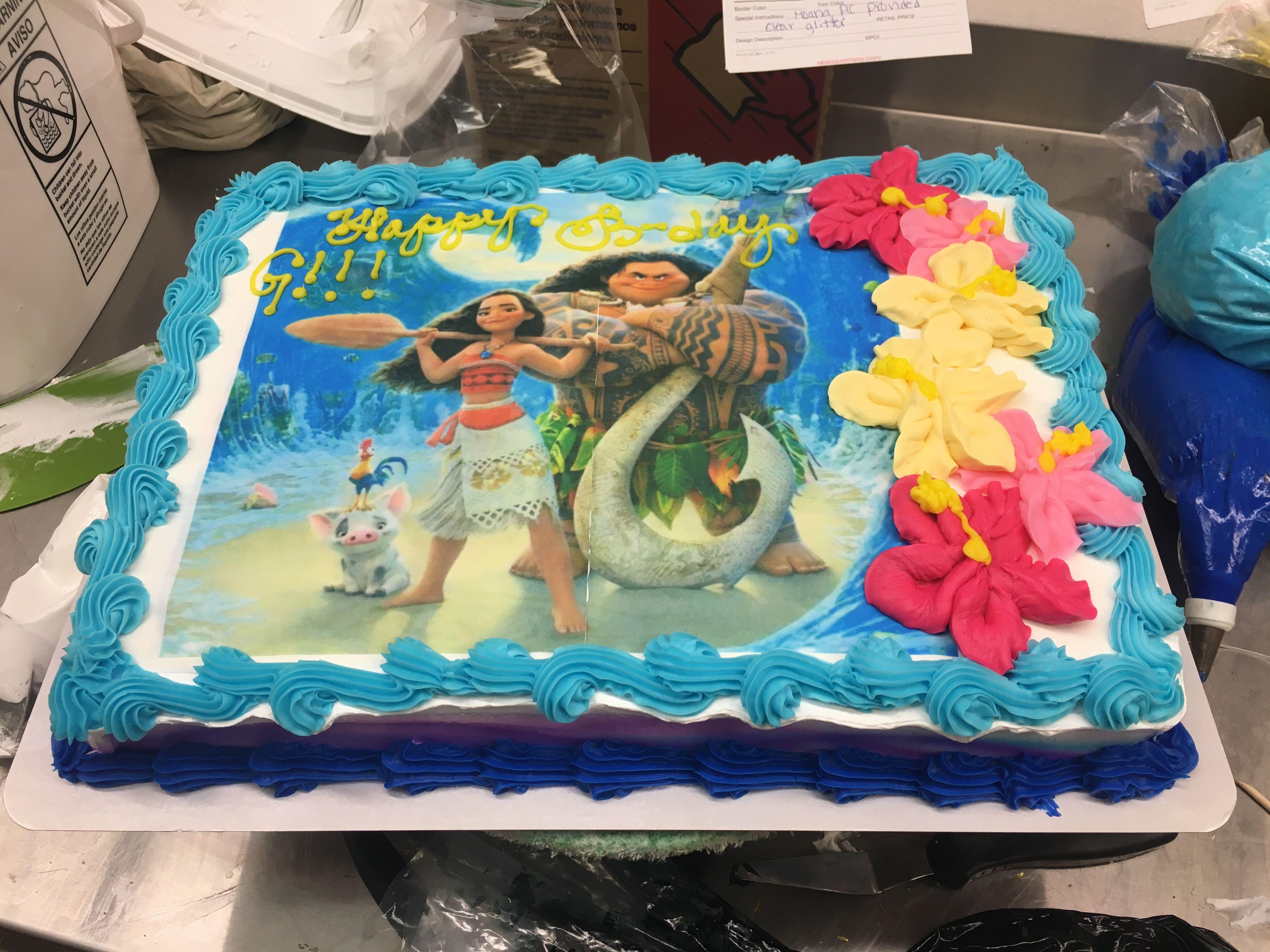 1 2 Sheet Moana Cake Moana Birthday Cake Moana Cake Moana