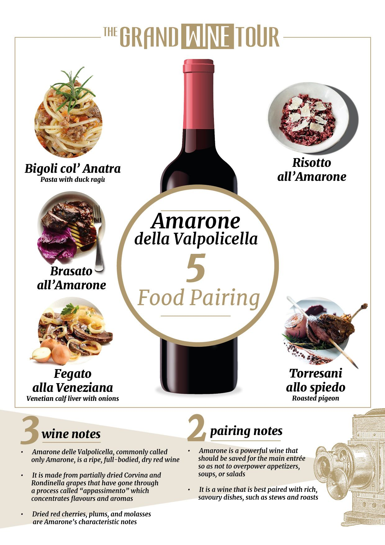 Amarone Food Pairing Your Holiday Menu Is Ready The Grand Wine Tour Food Pairings Amarone Wine Italian Wine