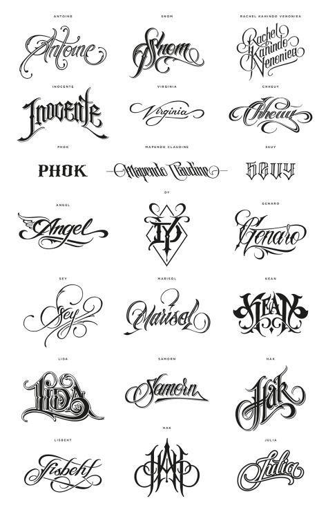 23+ Modele d ecriture pour tatouage trends