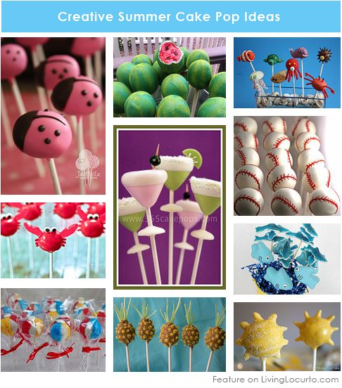 10 Creative Cake Pops For A Summer Party Cake Pops Summer Cakes