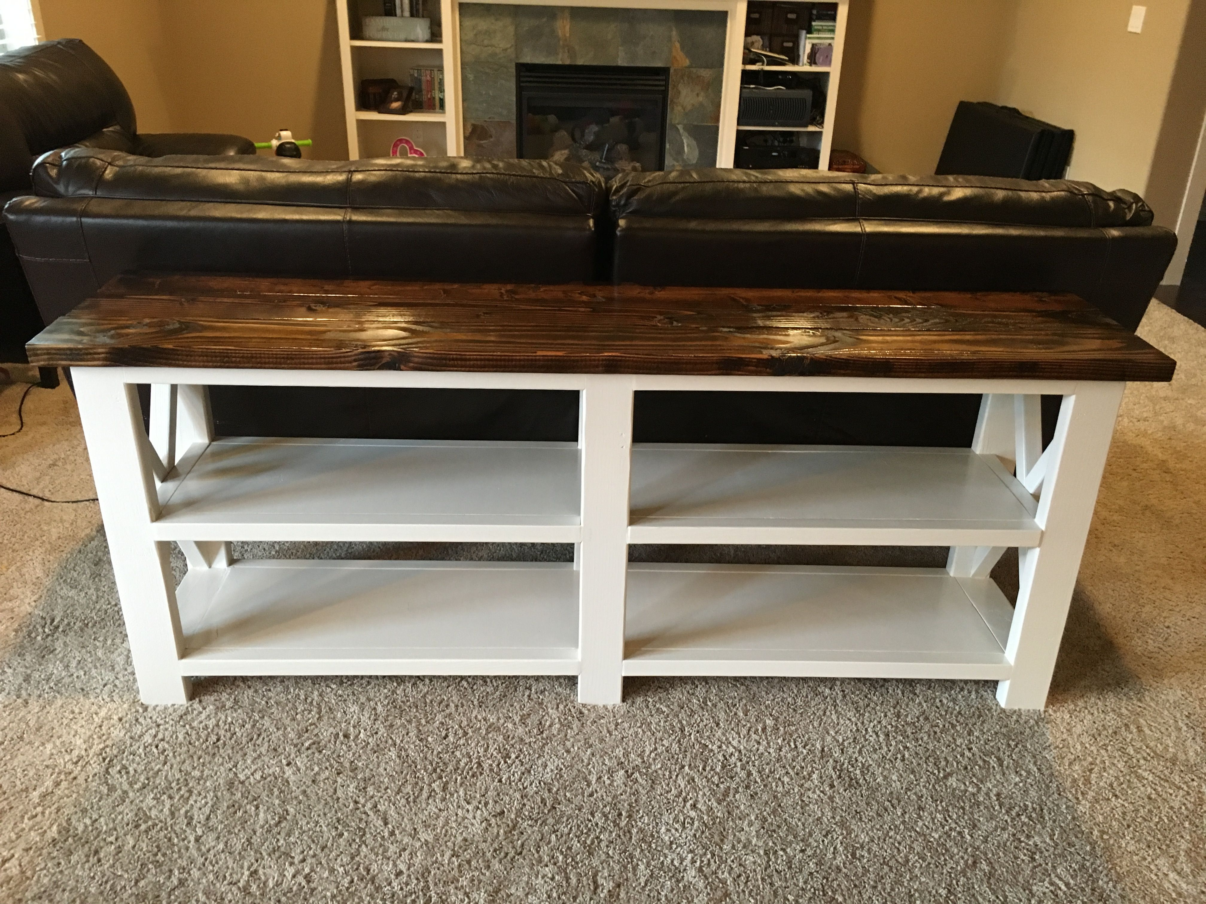 Ana white x console sofa table diy projects entry table ana white x console sofa table diy projects geotapseo Choice Image