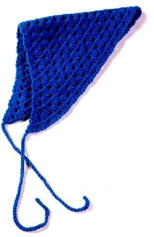 crochet kerchief free crochet pattern | CrochetHolic - HilariaFina ...