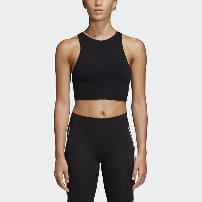 c712aede81 Warp Knit Crop Top Black L Womens in 2019 | Products | Crop tops ...