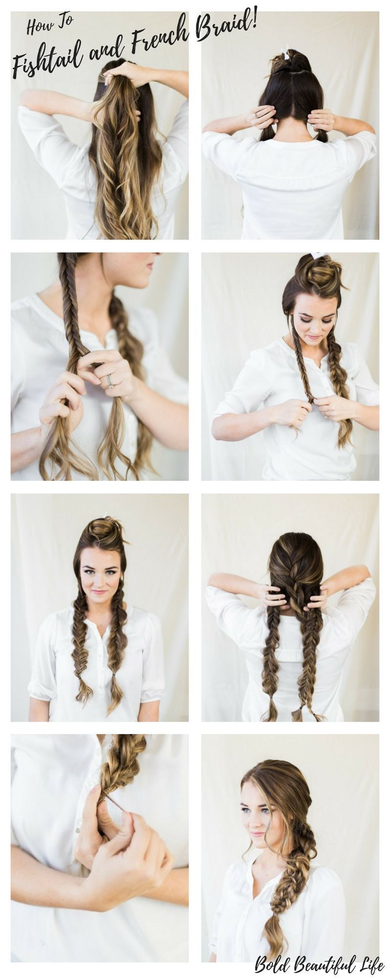 How To Fishtail And French Braid Best Fishtail Braid Tutorial