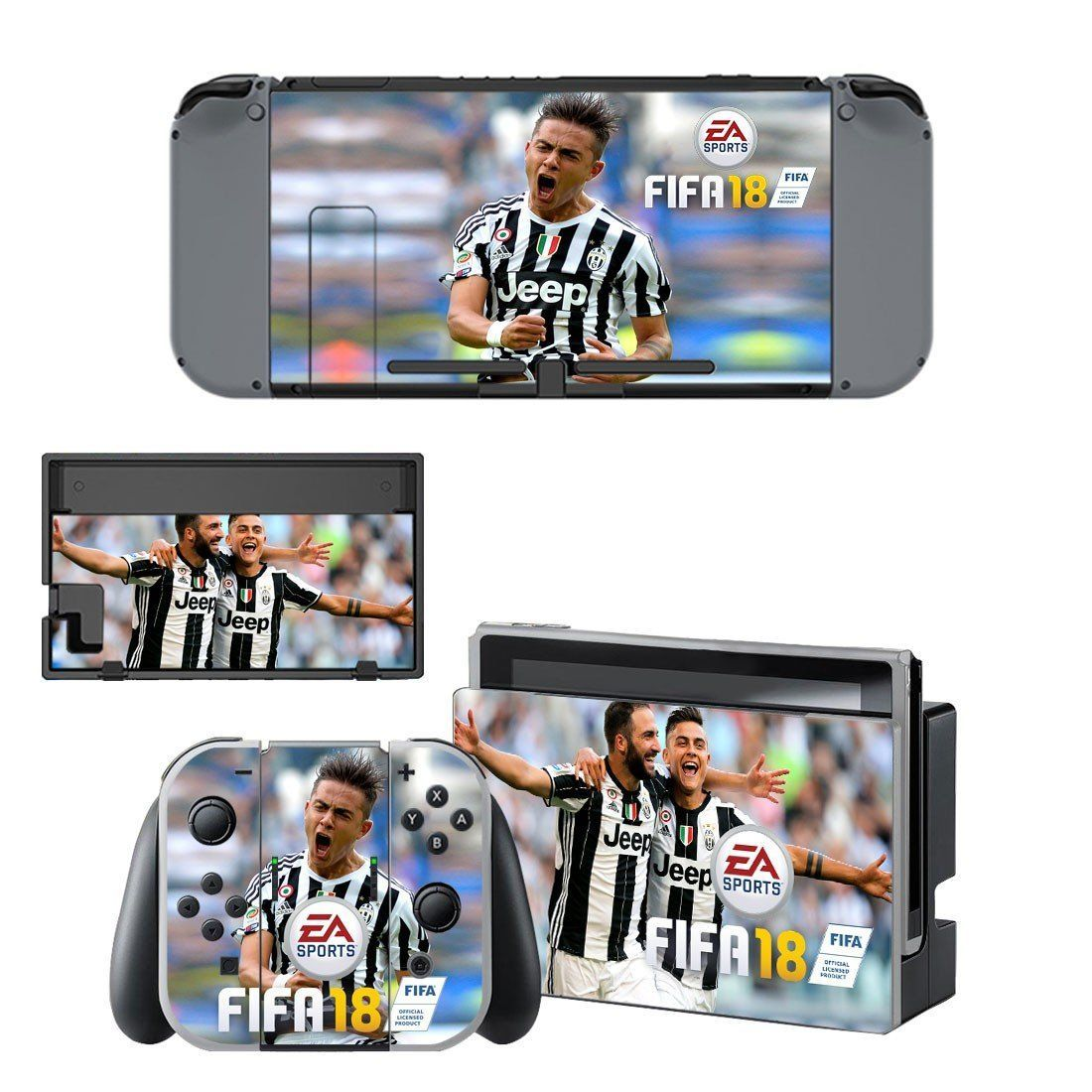 Fifa 18 Higuain And Dybala Juventus Vinyl Decal For Nintendo Switch Console Sticker Skin