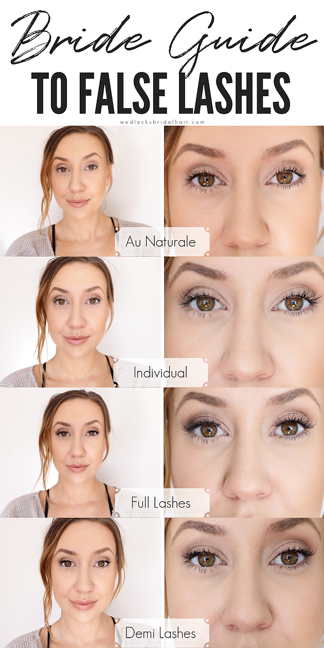 bride guide to false lashes by wedlocks bridal hair & makeup