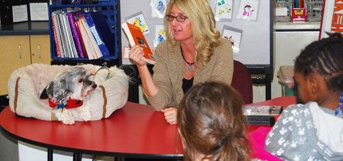 Book reading at Clay Academy