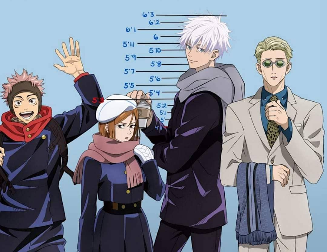 Jujutsu Kaisen On Instagram Drop Your Height In Comment Btw I M 19 And Still Have Nobara Height Tags Jujutsu Nanami Anime Reccomendations