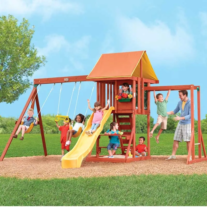 Cedarbrook II Wooden Swing Set - Assembly Included ...
