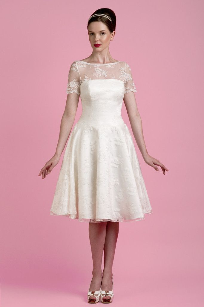 Tobi Hannah The Briggs Tea Length Wedding Dress Price Range: £1251 ...