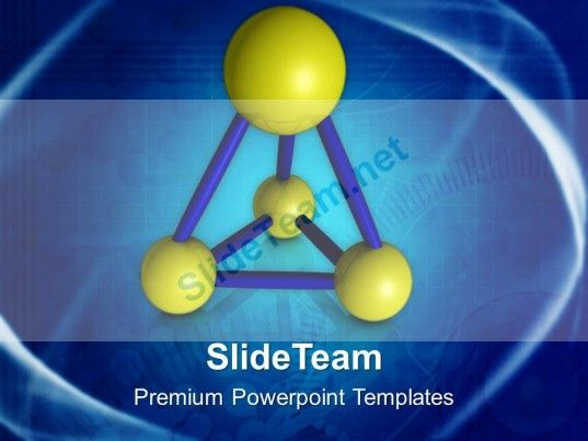 Abstract Model Of Atoms Science PowerPoint Templates PPT Themes - Science Powerpoint Template