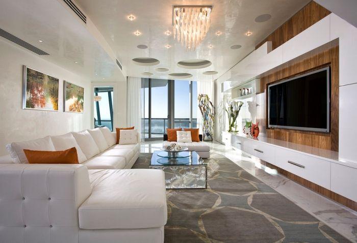 Wohnzimmer einrichten \u2013 Tipps für lange, schmale Räume Wohnzimmer