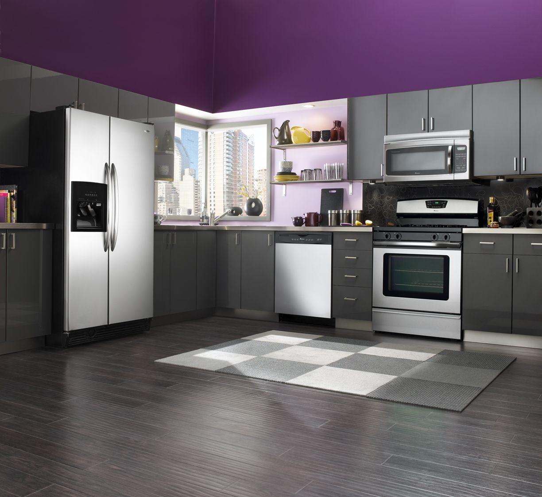 Beautiful Kitchen Designs In Purple Color Enticing Purple