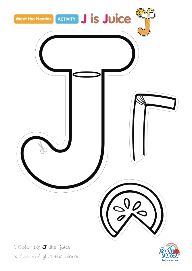 'J is Juice' craft! A whole craft series to go with our